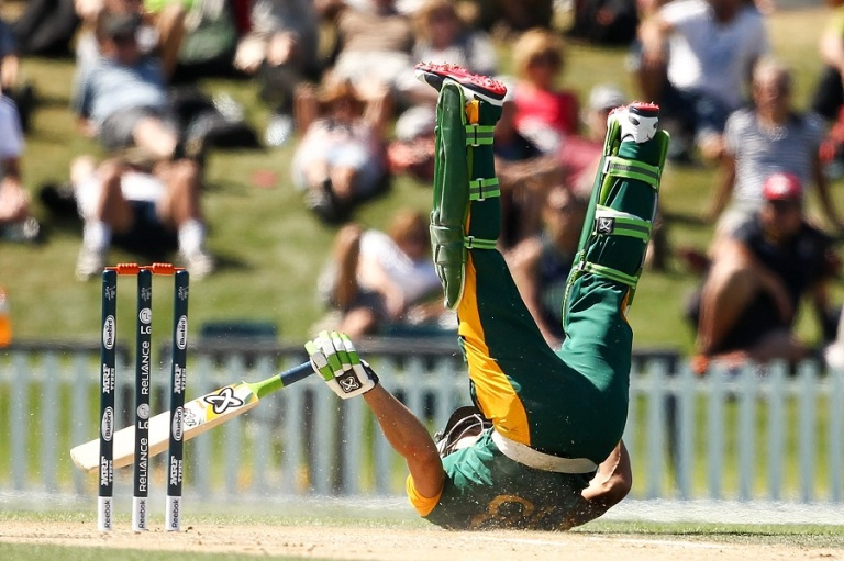 South Africa v New Zealand - ICC CWC Warm Up Match
